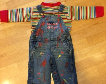 Chucky costume 2 piece set for toddler 12m and 18m goodguys