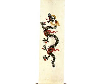 Bhutan Dragon Painting