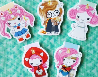 Unicorn Hero Magnetic Bookmark Set