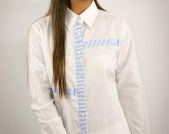 White Aleandra Shirt Blouse