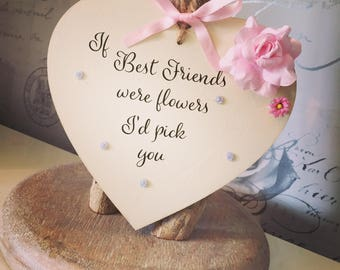 Best Friends heart plaque