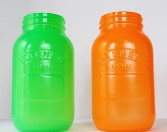 Fluorescent Neon Glow Paint Kilner Jars