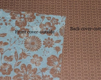Warm floral Cover Custom, Happy planner cover, ARC cover, Discbound, Any size, custom planner cover-floral