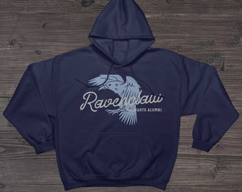 Harry Potter Ravenclaw Hogwarts Alumni Navy Hoodie or T-shirt 50/50 Cotton-Poly Blend