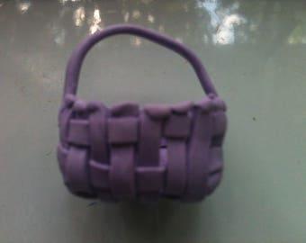 The Cut Miniature Poly Clay Purple Basket