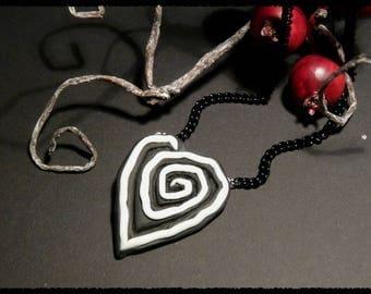 Spiral heart - necklace