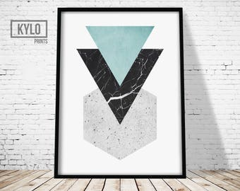 Geometric Print, Abstract Art, Modern Print, Digital download, Digital print, Geometric Poster, Scandinavian Print, Scandinavian Art, Home