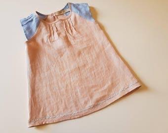 Linen dress for small girls