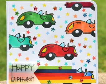 Card full of cars