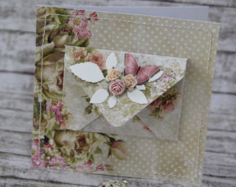Romantic card with gift inside