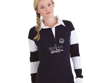 """MOM Christmas gift - Polo MOM to be personalized with your name - gift mother's day - MOM gift idea """"My mom who rocks..."""""""