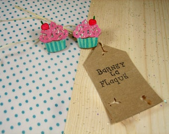 """Little cupcake"" Stud Earrings"