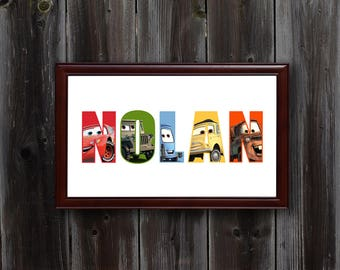 Personalized Disney Cars Wall Art