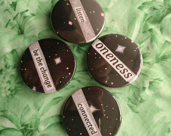 Universe Space Galaxy Pin Badge Set