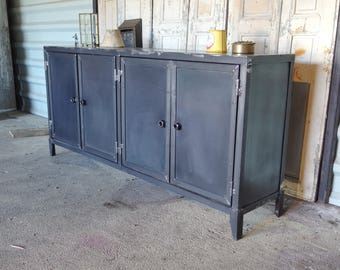 Four industrial style buffet doors 5thdeco