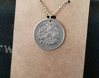 Japanese 100 Yen Coin Necklace