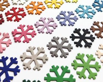Paper Snow Flake, Cardstock Paper Winter Die Cuts for Christmas Decorations, Card Making and Scrapbooking