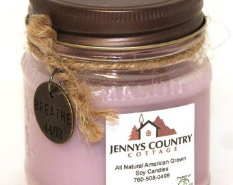 A Day at The Spa Scented Soy Candle - 8 Oz. Mason Jar