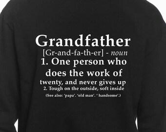 Grandfather Definition Sweatshirt - Grandfather Gift - Grandpa Gift