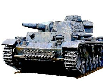 Panzer III World War 2 Fine Art Print