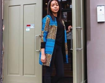 NEW IN: Ankara jacket, African clothing for women, African print, jacket, Dutch wax, robe wax,kitenge