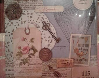 Summer Sale Victorian Ephemera Collage Kit by Firefly