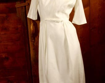 1960's Knee Length Wedding Dress