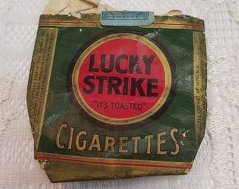 Vintage Lucky Strike Cigarette Package Old Collectible