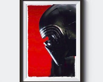 STAR WARS   Kylo Ren Painting   Poster   Print #M34