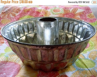 Christmas In July Sale Kaiser Jello Mold, Bundt Pan, Tube Pan, Vintage Cookware, Made in W. Germany, 1950's