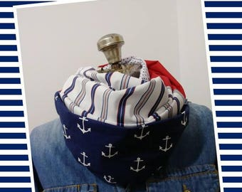 Sailor style infinity scarf