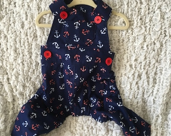 Pet Overalls -Made to Order- One of a Kind Piece