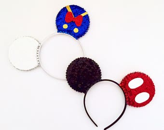 The Boys - Handmade Donald Duck or Mickey Mouse inspired Mouse Ears Headband