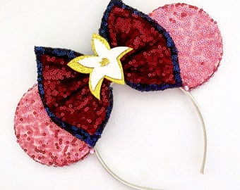 The Flower that blooms in Adversity - Handmade Mouse Ears Headband
