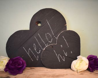 Pallet Heart Chalkboard (Set of two)