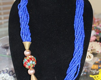 African Necklace, Beads Necklace, Handmade Neclace, Women Neclace