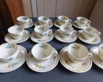 Theodore Haviland 12 cups and ivory paste Limoges porcelain coffee mug