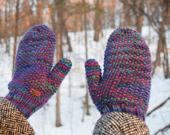 Wool Jewel Tone Mittens