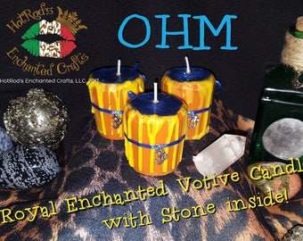 OHM ~ Royal Enchanted Votive Candle