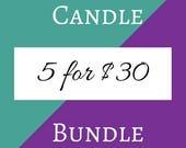 Five Candle Bundle (5-4 oz Soy Candles)