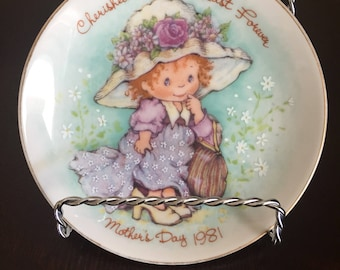 """Mother's Day """"Cherished Moments Last Forever"""" Collectable Plate Exclusively crafted in Japan for Avon 1981"""