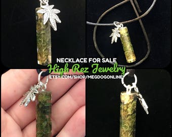 High Rez Jewelry Cannabis Resin Necklace