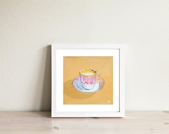 Vintage Cup. Limited edition art print