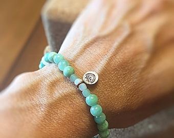 Stretch Bracelet Blue Aqua