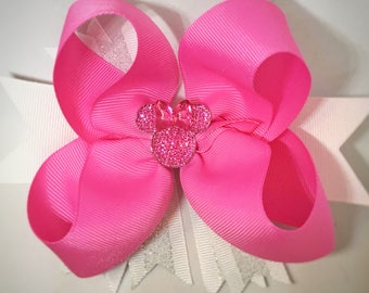 minnie mouse bow, minnie mouse hair bow, disney bow, disney birthday, minnie birthday, disney trip, big bow, bows for girls