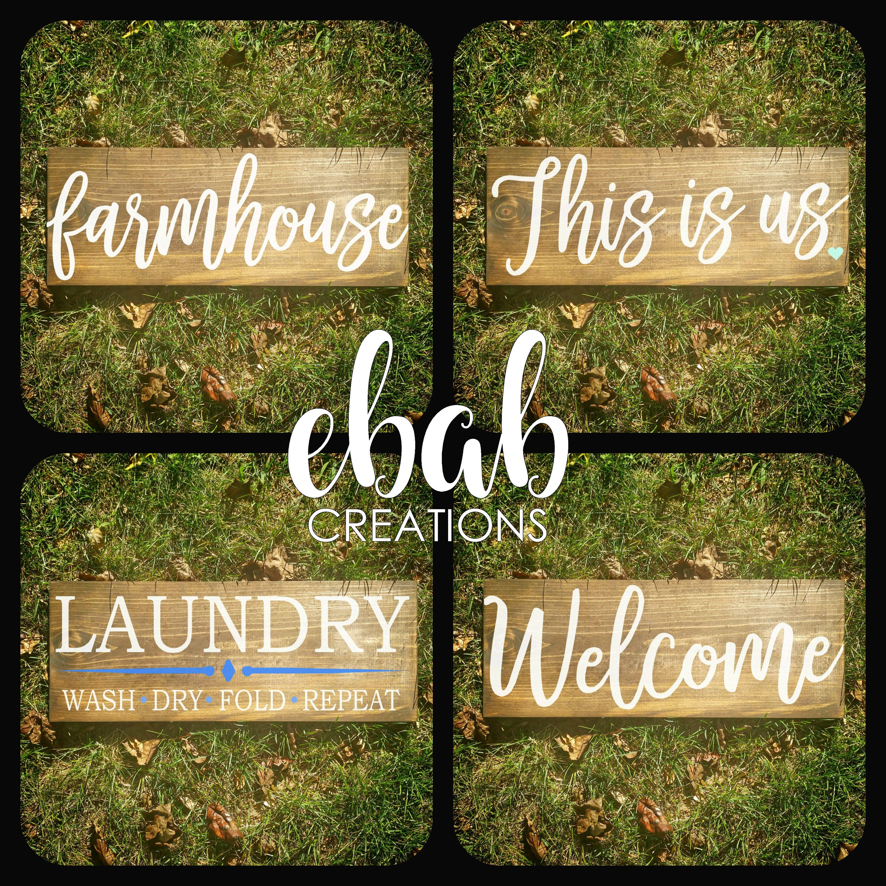 Farmhouse Sign Laundry Room Sign Hello Fall Welcome Sign