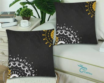 "Throw Pillow Cover 18""x 18"" (Twin Sides) +6 other sizes - Dandelions - FREE Shipping"