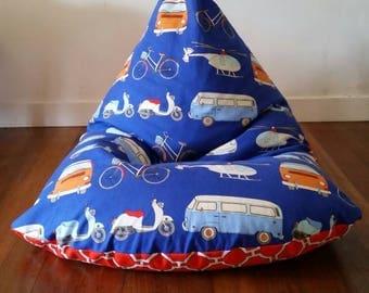 Kids size bean bag cover - Combi