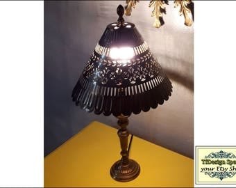 Lámp of Brass, Desk Lamp, Table Lamp, Arabian style brass lamp, metal lamp, table lamp, ethnic lighting, ambient lighting,