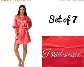 ON SALE Bridesmaid robes set of 7, Wedding robes, Robes for bride and bridesmaid, Cheap robes, Robes under 20, Personalized robes, Monogramm
